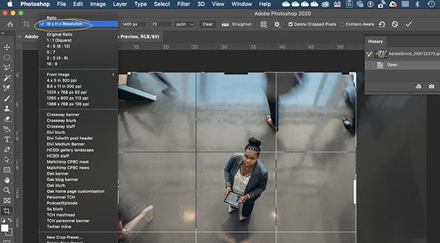 Choosing the image crop dimensions